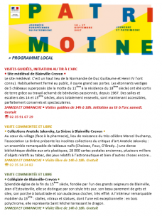 Programme local des Journées du Patrimoine 2017