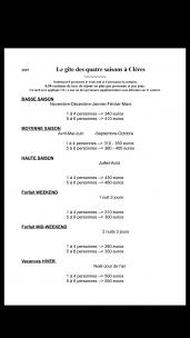 Tarifs et Réglement du Gite des Quatre Saisons à Clères